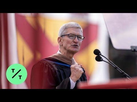 Tim Cook Talks Tech Privacy in Stanford University Commencement Speech