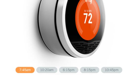 Intelligentes Thermostat Nest im US-Apple-Store