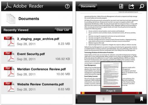 Adobe veröffentlicht Reader für iOS