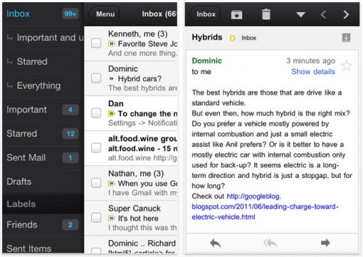 Google Mail als iOS App erschienen