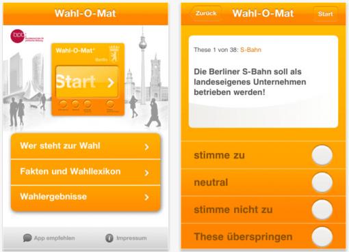 Gratis App: Demokratie goes Wahl-O-Mat
