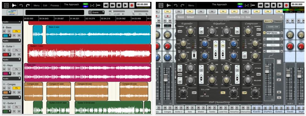 Auria App fürs iPad – professionelles Audio Recording mit 48 Spuren