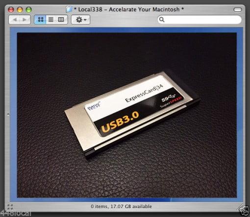 USB 3.0 ExpressCard MacBook