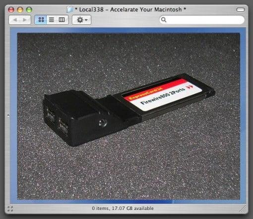 FireWire 800 ExpressCard MacBook Pro