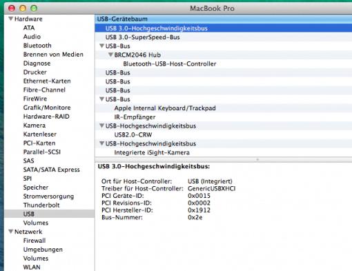 MacBook Pro mit USB 3.0