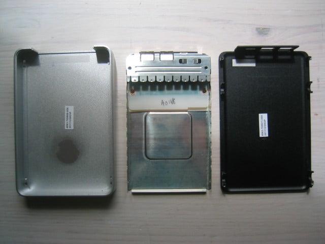 Untere Aluminiumschale, Blechhalterung für Elektronik und Festplatte, Aluminiumdeckel