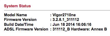 Draytek 2710ne Firmware Update