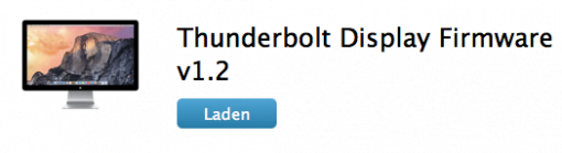Thunderbolt Display Firmware Update