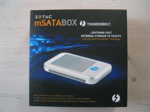 Zotac mSATABOX Thunderbolt Gehäuse