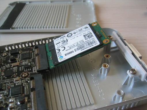 Zwei Plätze für SSDs, um sie per Thunderbolt anzubinden