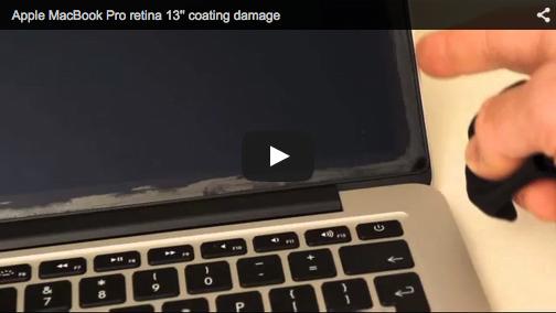MacBook Retina Display Beschichtung