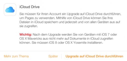 iOS 8 und Yosemite notwendig