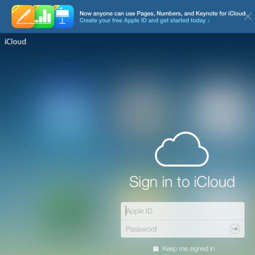iCloud mit Pages, Numbers, Keynote