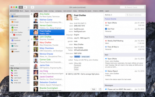 BusyMac BusyContacts