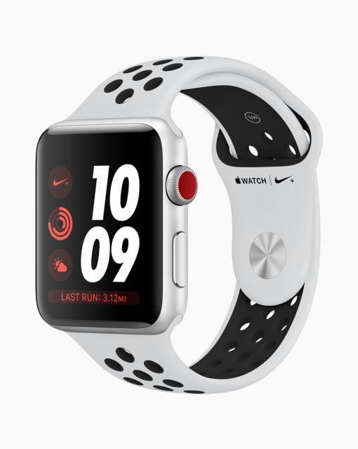 watch series 3 nike newband white
