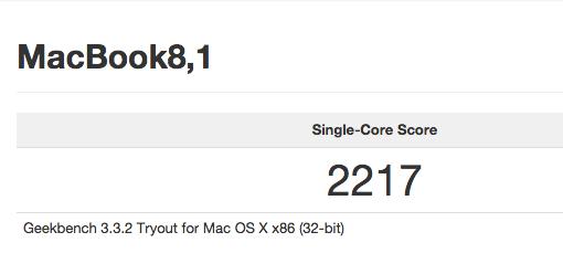 Geekbench MacBook 1,1