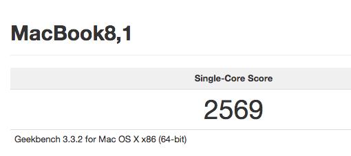 Geekbench MacBook 1,2