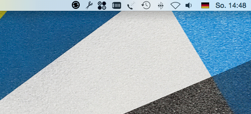 Menüleiste OS X