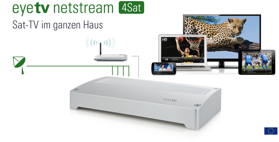elgato eyetv netstream 4sat und 4c f r fernsehen im netz mac egg. Black Bedroom Furniture Sets. Home Design Ideas