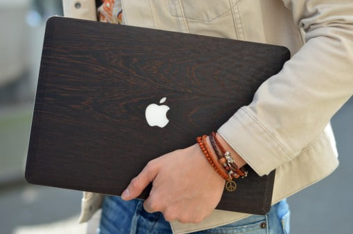 glitty Wnge Holz Case MacBook