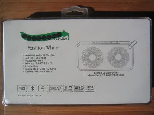 bestbeans Fashion White  Lautsprecher