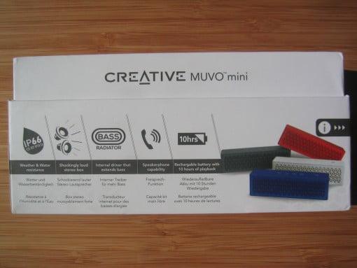 Creative Muvo mini Verpackung