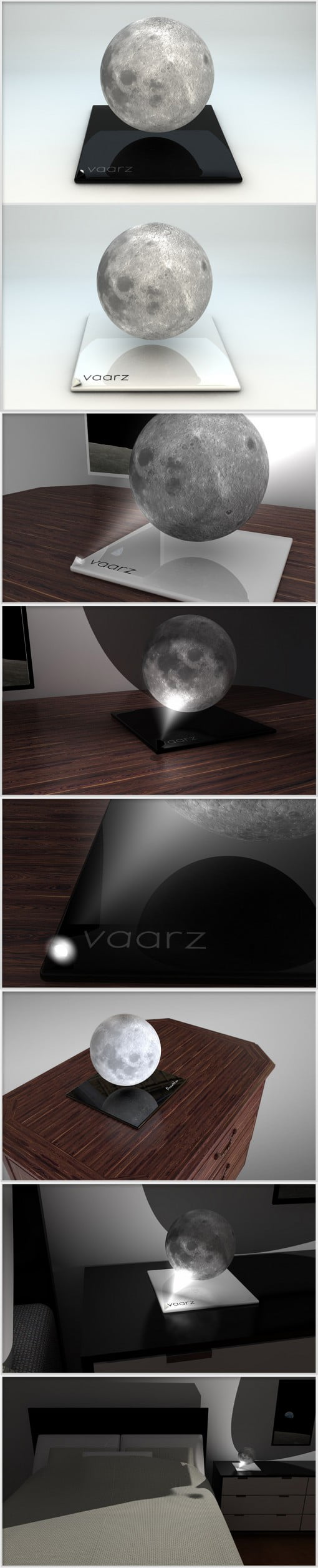 vaarz Mond Nachtischlampe