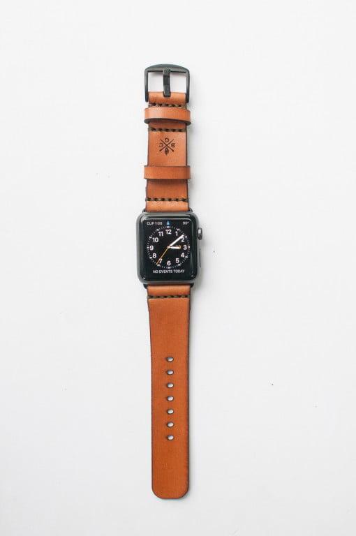 Bexar Apple Watch mit Lederarmband