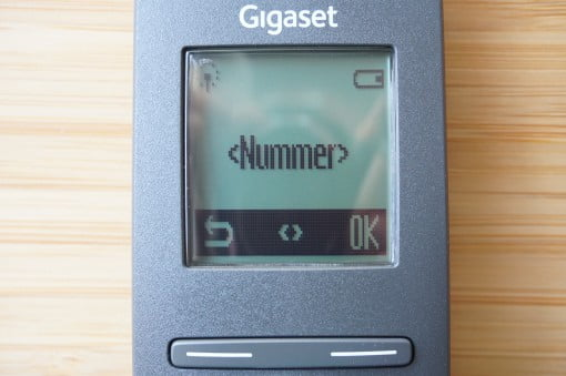 Gigaset A540 CAT IP Telefon Display