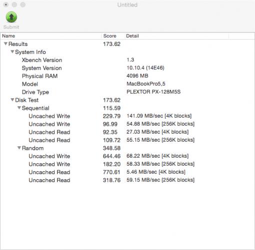 Plextor SSD M5S 128 ohne TRIM 2