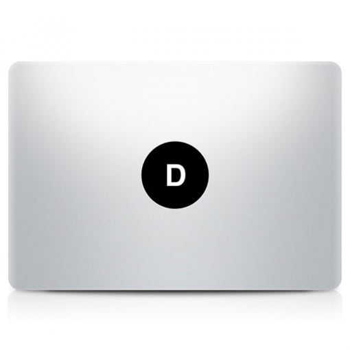 Alphabet Decal MacBook D