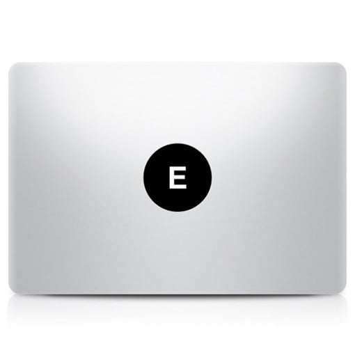Alphabet Decal MacBook E