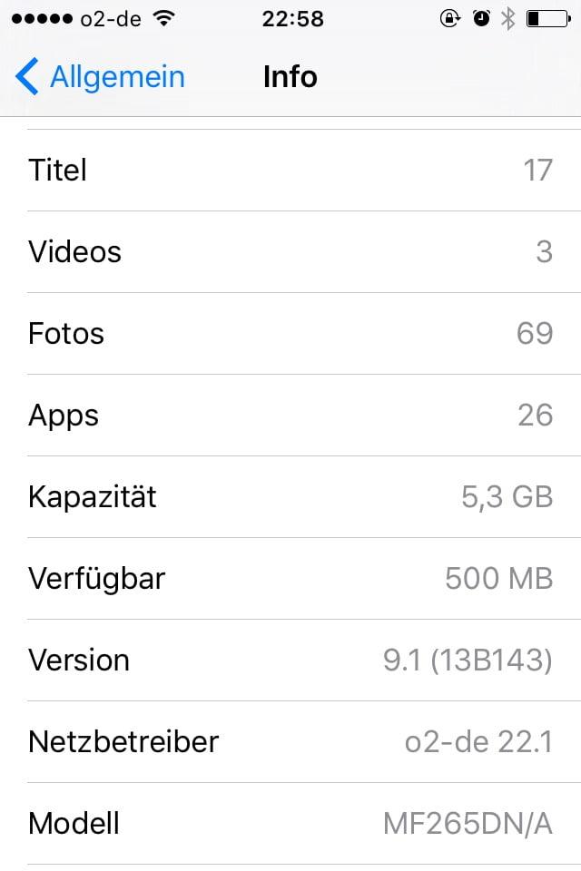 iOS Info Allgemein