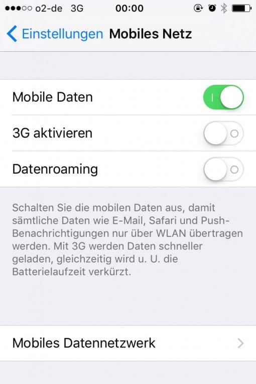 3G aus aber doch an