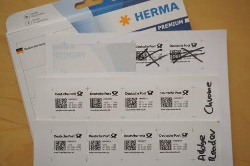 Internetmarke Pdf Auf Etiketten Drucken