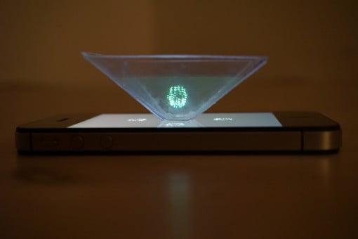 Hologramm auf dem iPhone