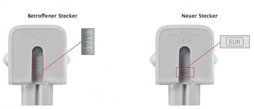 Apple Netzteilstecker defekt