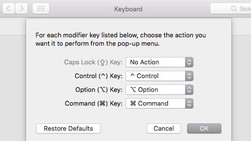 Keyboard no action
