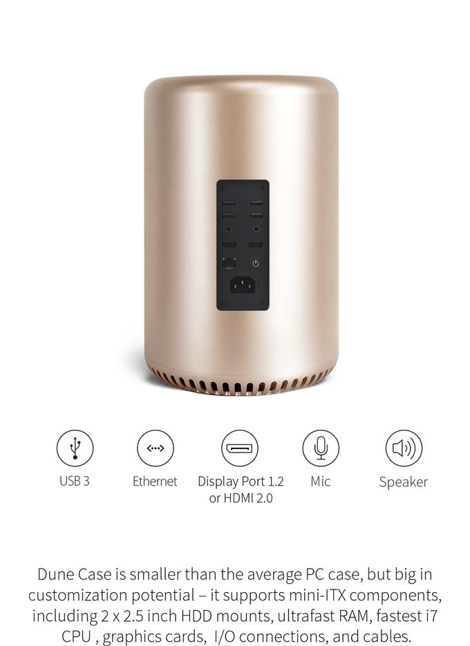 Dune Case: PC Gehäuse im Mac Pro Look