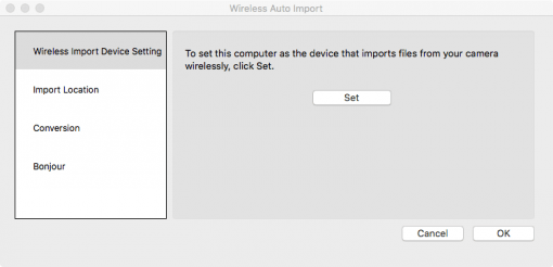Sony Wireless Auto Import Pairing