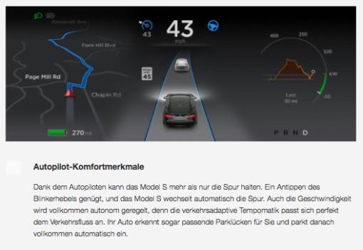 Tesla Autopilot autonom