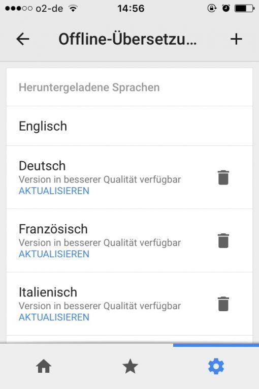 Google Übersetzer offline