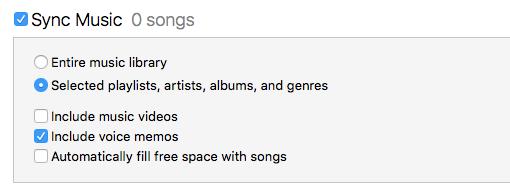 Sprachmemos iTunes