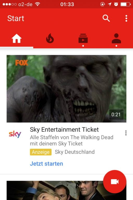 Walking Dead Werbung YouTube
