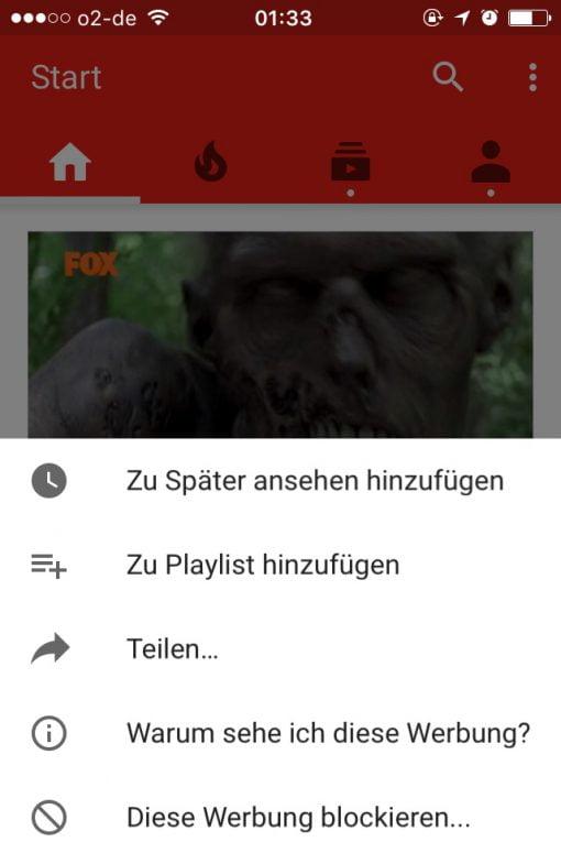 Walking Dead Werbung YouTube blockieren