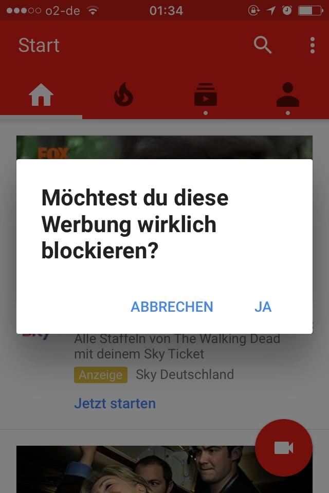 Werbung Youtube Blockieren