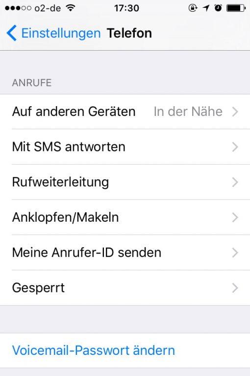 iPhone Rufnummernübermittlung abschalten