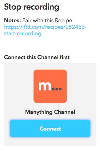 IFTTT Channel verbinden