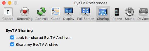 eyeTV Sharing