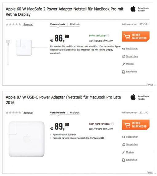 Apple Netzteil Preise Angebot